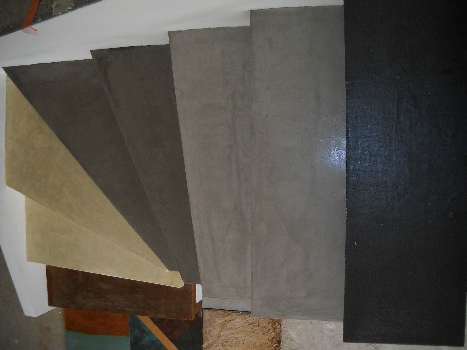 Bton cir escalier fabulous escalier en bton cir with bton for Mettre du beton cire